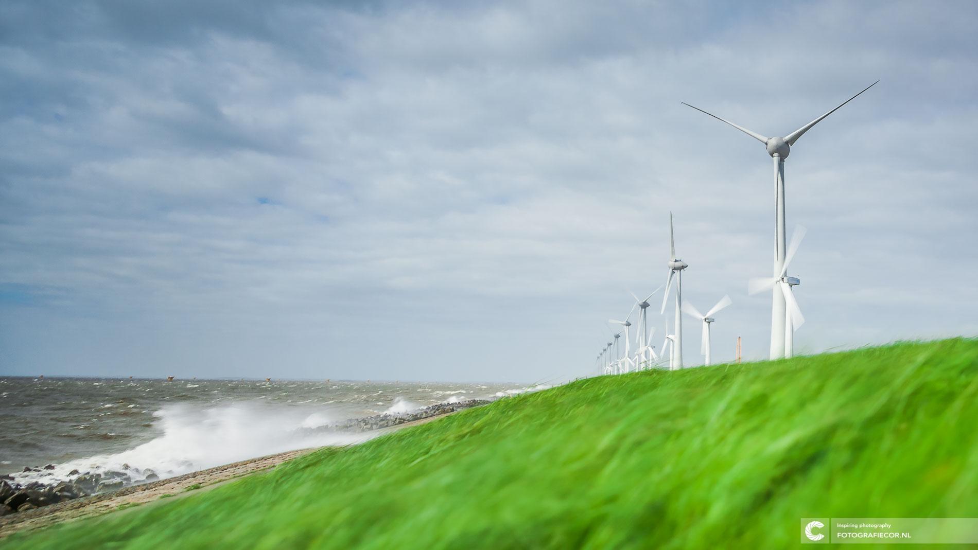 windmolenpark IJsselmeerdijk Noordoostpolder | Landschapsfotograaf