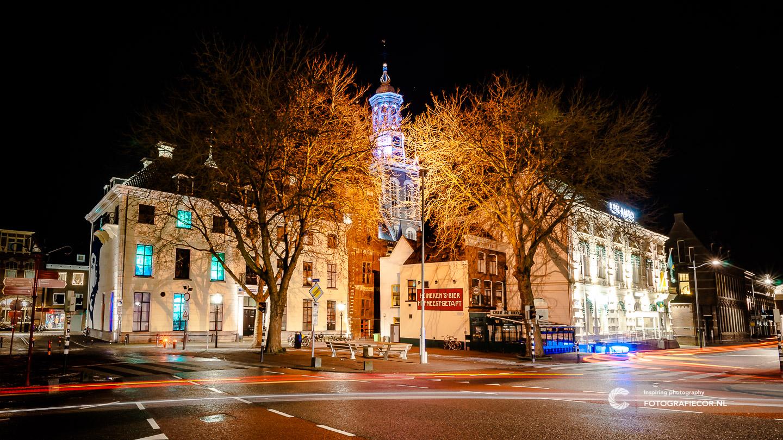 Avond fotografie Nieuwe toren in Kampen aan de IJssel - hanzesteden | fotograaf hanzestad