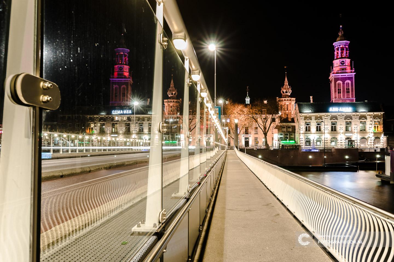 Avond fotografie met nacht foto stads gezicht van Kampen aan de IJssel - hanzesteden | fotograaf hanzestad nieuwe toren