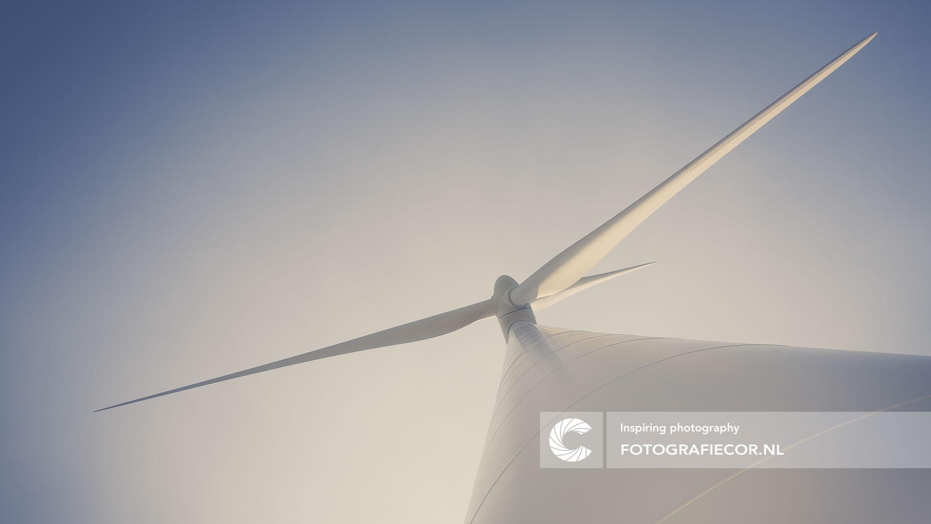 Windmolen elektrische energie productie | architectuurfotograaf