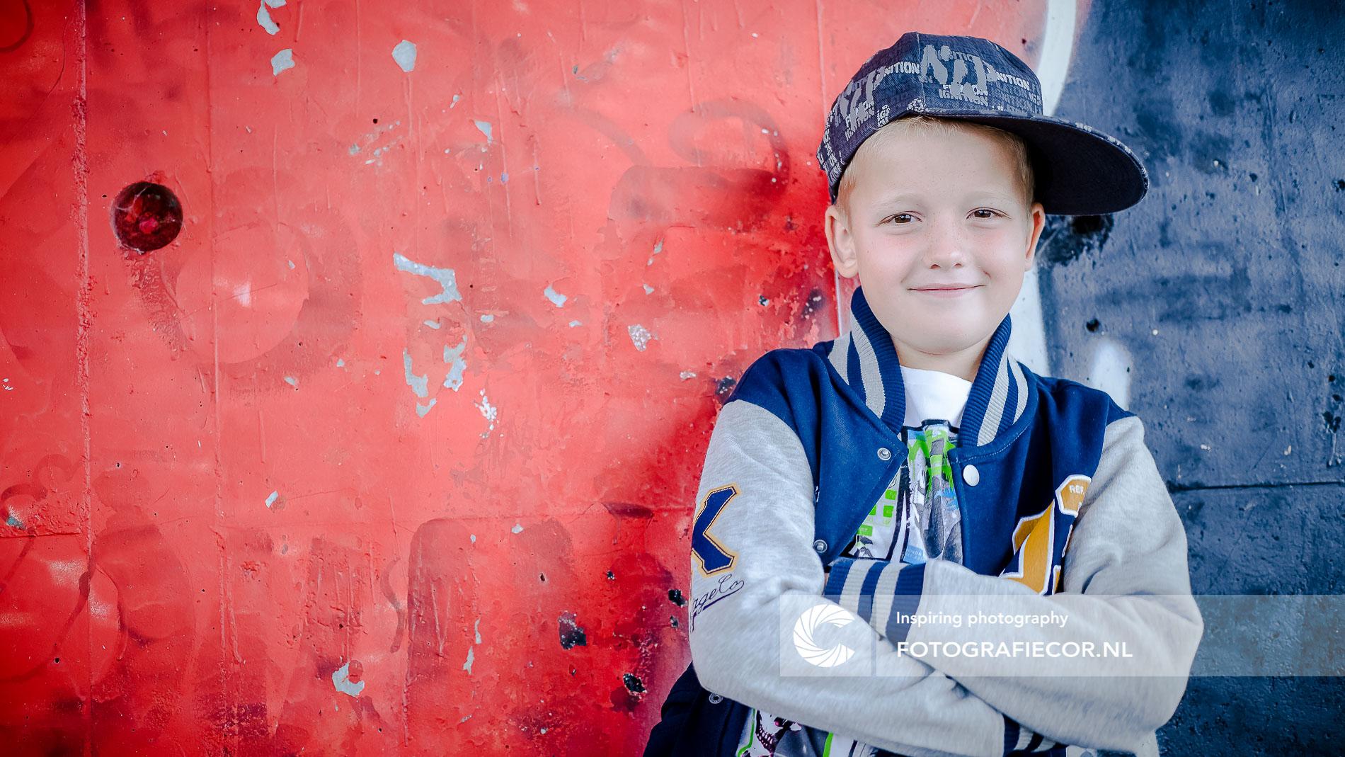 kinderportret | Stoere vent | urbex | graffiti | fotoshoot | portret | foto | kind