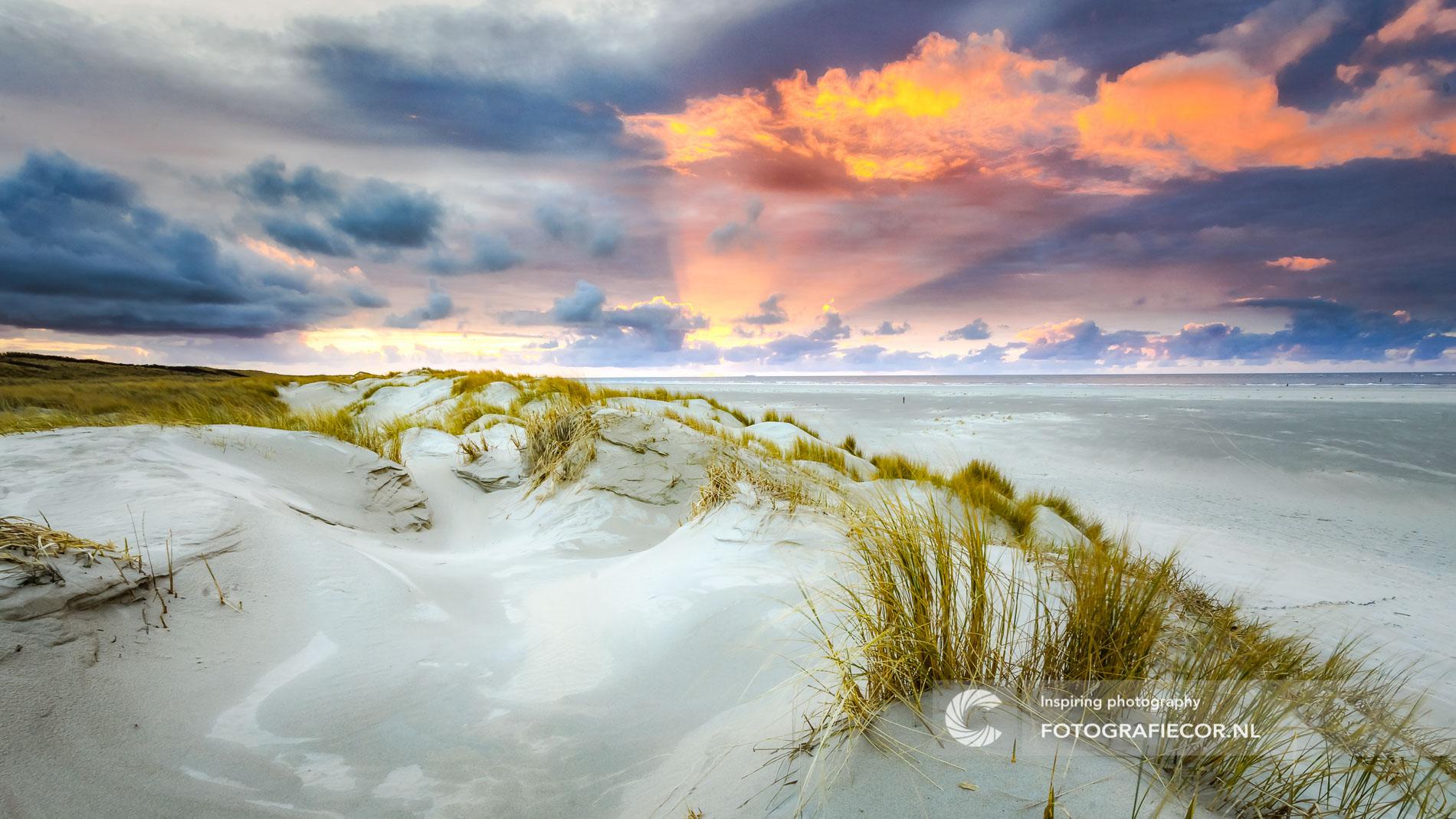 kust | Noordzee| Cocksdorp | landschapen| zonsondergang | landschapsfotograaf | avondrood