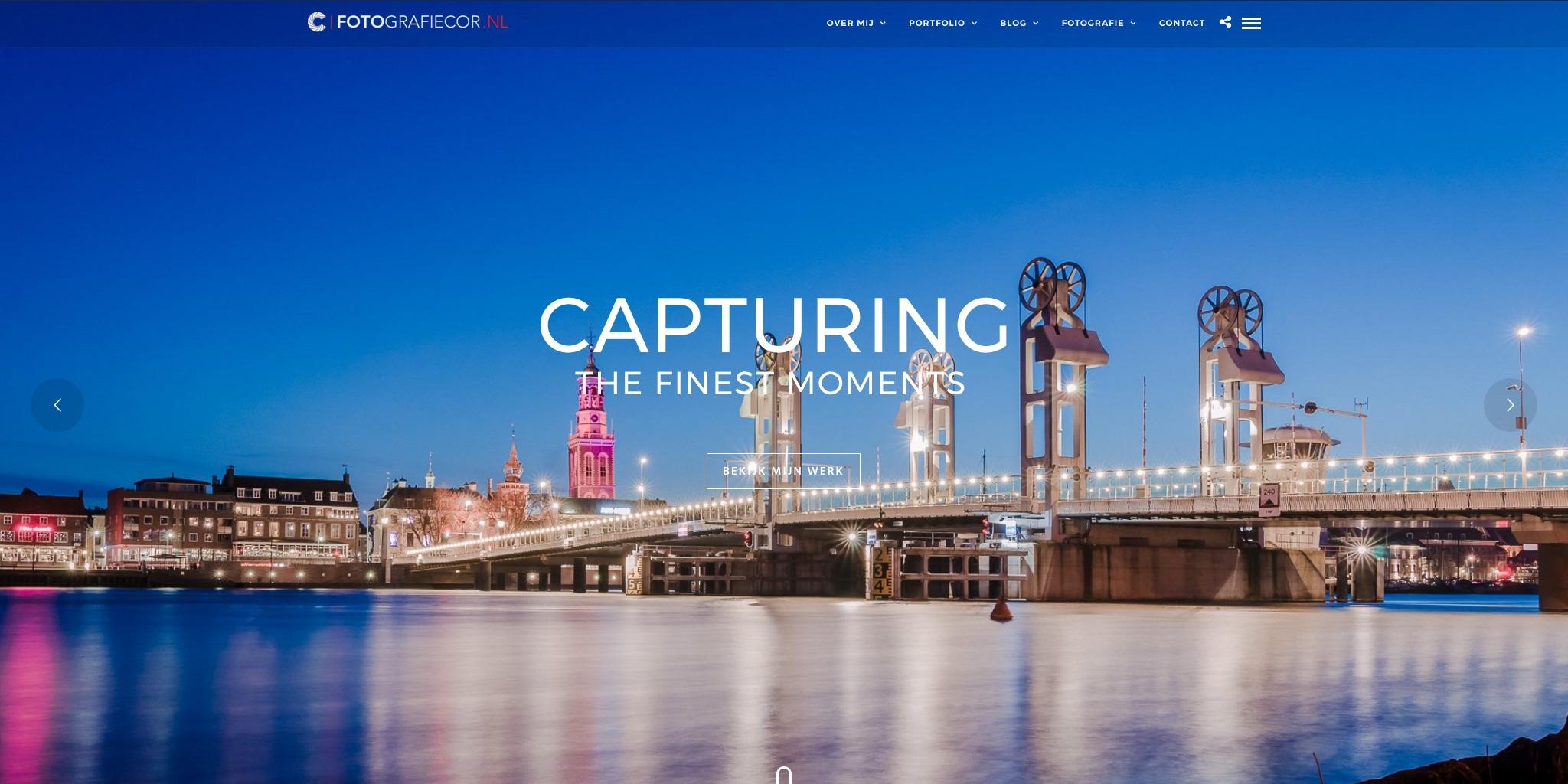 Foto website van fotograaf uit Kampen met foto van Kamper Stadsbrug