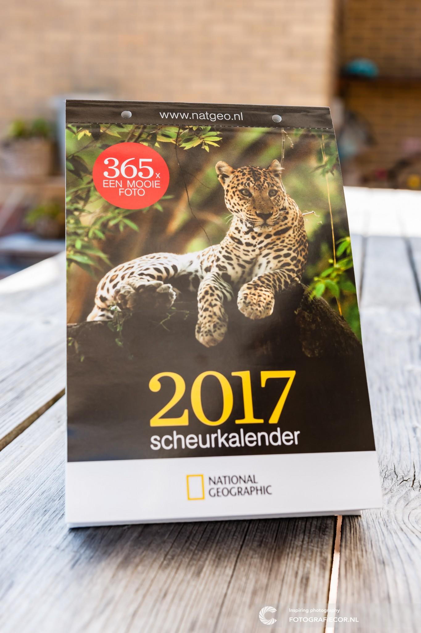 voorzijde en cover kalender met daarin de gepubliceerde foto