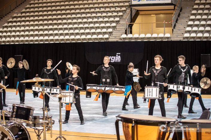 Indoor percussion Jong KTK | Eventfotografie Color Guard Nederland