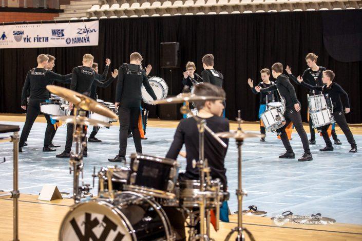 Indoor percussion Jong Kamper Trompetter Korps | Evenement fotograaf Kampen - Nederland