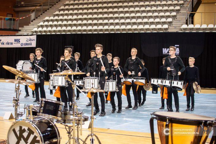 Indoor percussion Jeugdband Slagwerk Jong KTK | Eventfotografie topsportcentrum almere