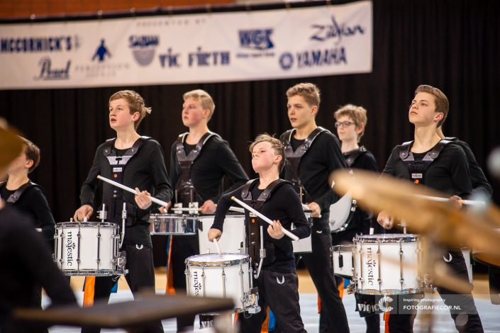 Indoor percussion topsportcentrum Almere Jong KTK | Evenement fotograaf - Nederland