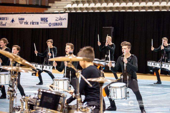 Indoor percussion met overtuiging en beleving | Eventfotografie Kampen - Nederland