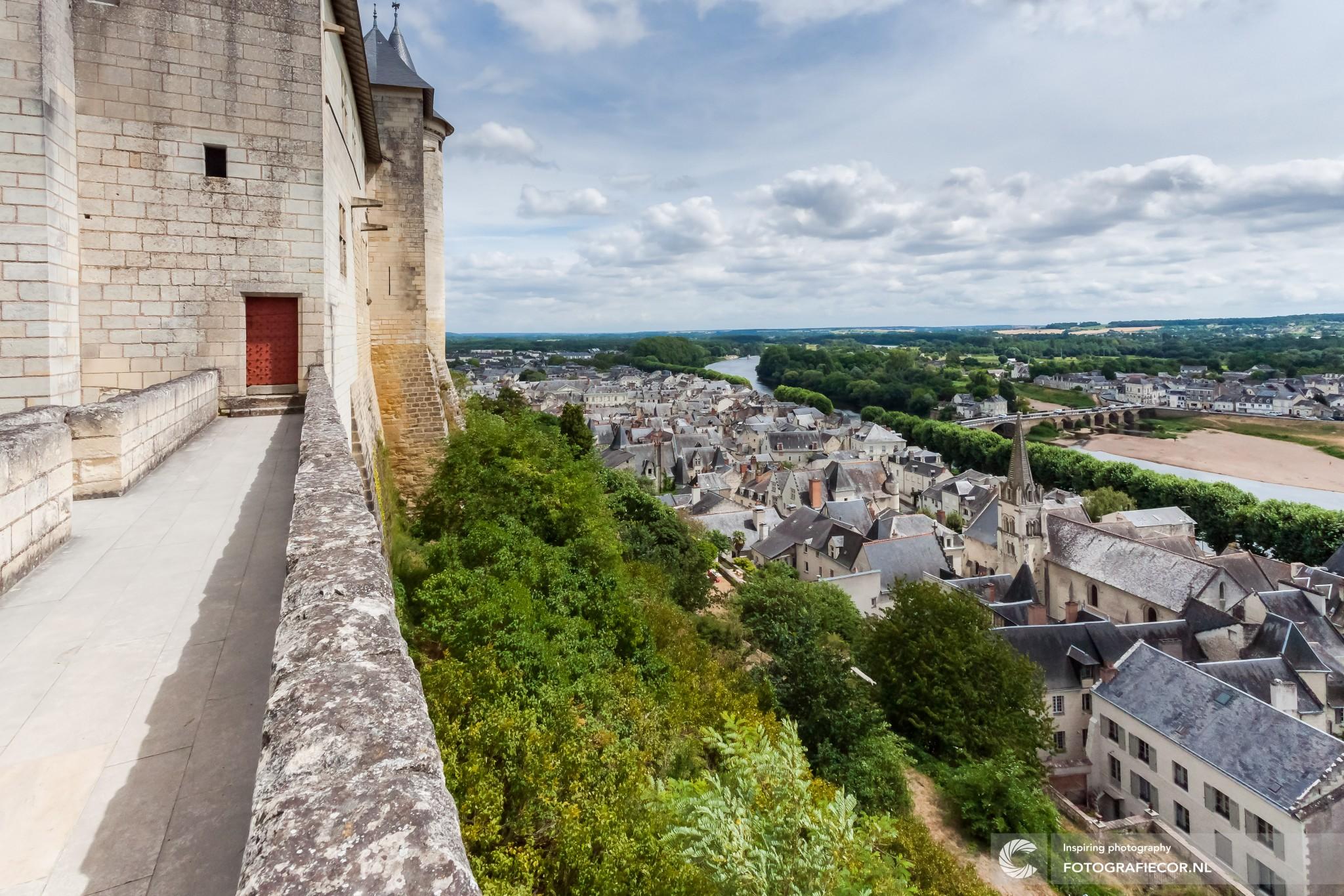 hyperfocale afstand | Chinon | Indre-et-Loire | landschap | kasteel | Frankrijk | vesting | fort | Touraine | Jeanne d'Arc