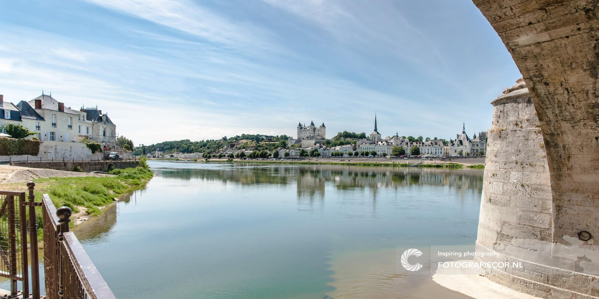 Saumur | Frankrijk | rivier | kasteel | Brug | chateau | tourisme | landschap | | lange sluitertijd