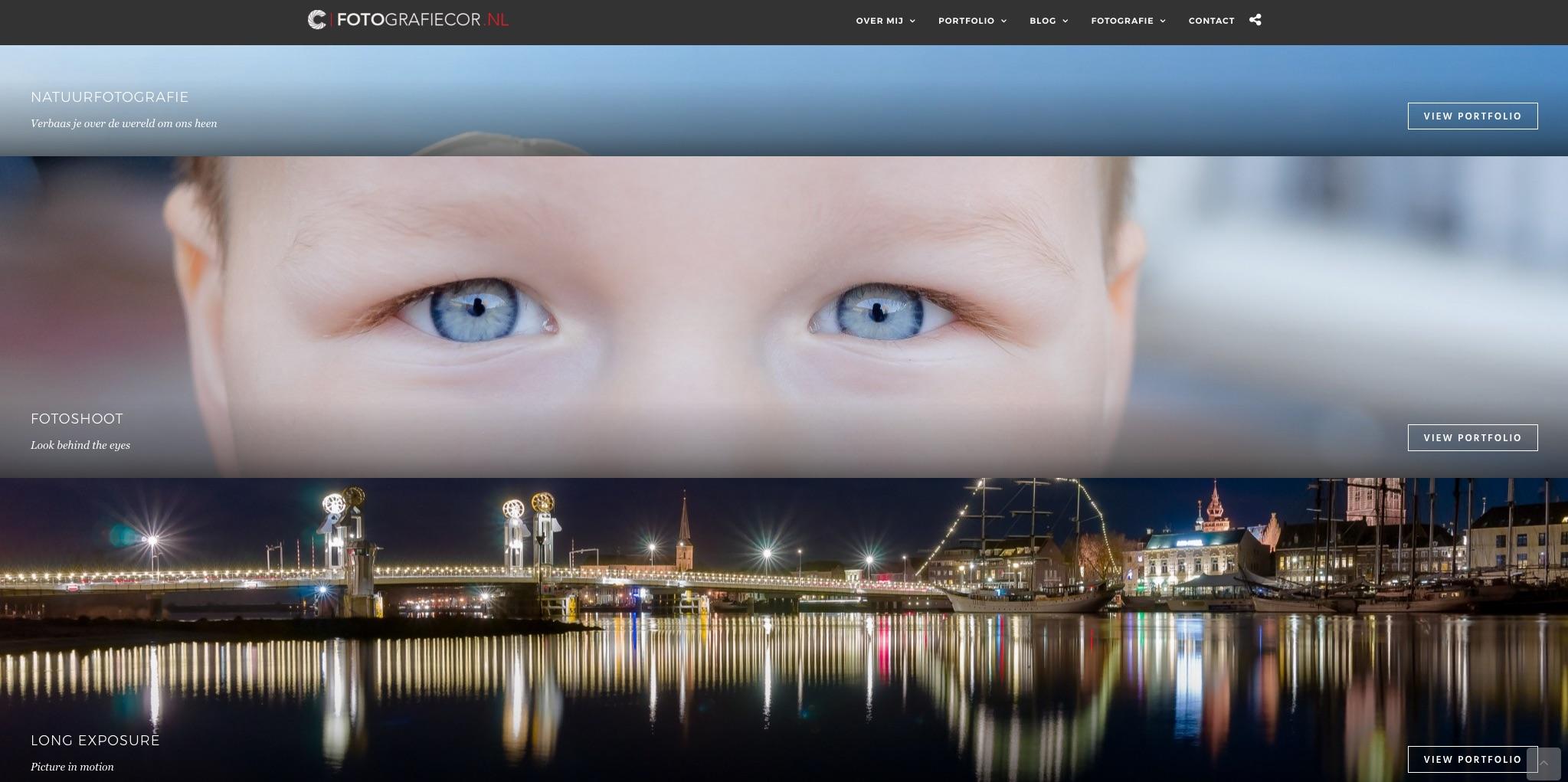 In mijn portfolio is een kleine impressie van mijn werk op deze nieuwe foto website