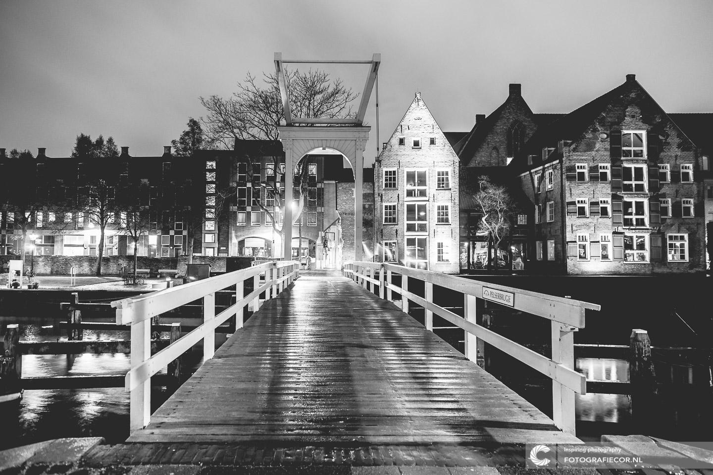 Lange sluitertijd workshop | Foto van Kampen | stadsfront aan de IJssel | fotografie avond