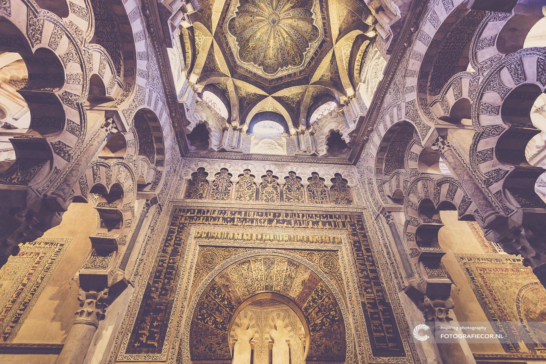 Andalucia Spanje   Andalusie   bezienswaardigheden   Cordoba   mezquita   córdoba   rondreizen Spanje   stedentrip   zuiden van Spanje   Architectuur   Mooren   moskee   Mihrab   Islam   Moslim