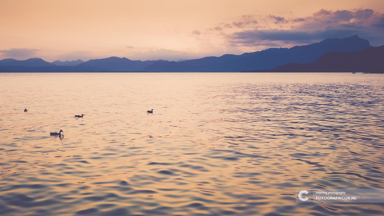 Zonsondergang | Avond | Italie | Romantisch | Gardameer | vakantie | Lago di Garda | Noord Italië | Alpen | Italiaanse meren