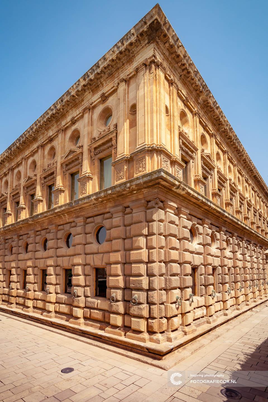 Paleis van Karel V | Alhambra Granada | Andalusie | bezienswaardigheden | Generalife | Granada | Nasrid | Palace | Spanje | Zuid Spanje | Architectuur