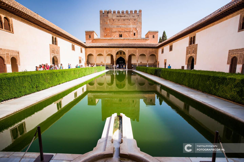 Tuin | Fontein | Alhambra Granada | Andalusie | bezienswaardigheden | Generalife | Granada | Nasrid | Palace | Spanje | Zuid Spanje | Architectuur