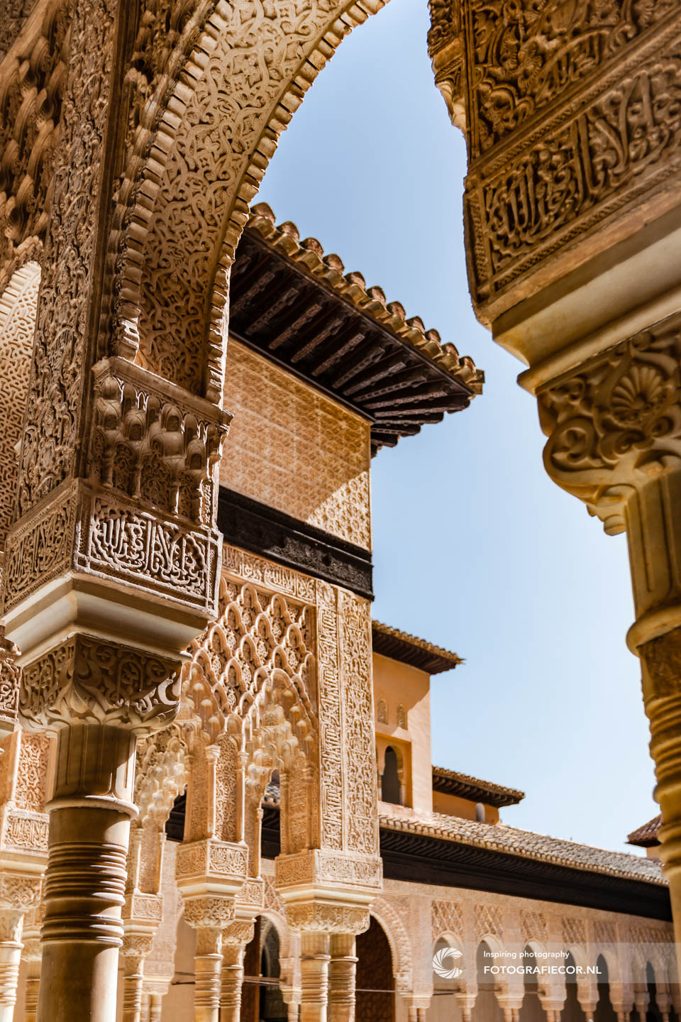 Palace of the Lions | Arabeaque | Alhambra Granada | Andalusie | bezienswaardigheden | Generalife | Granada | Nasrid | Palace | Spanje | Zuid Spanje | Architectuur