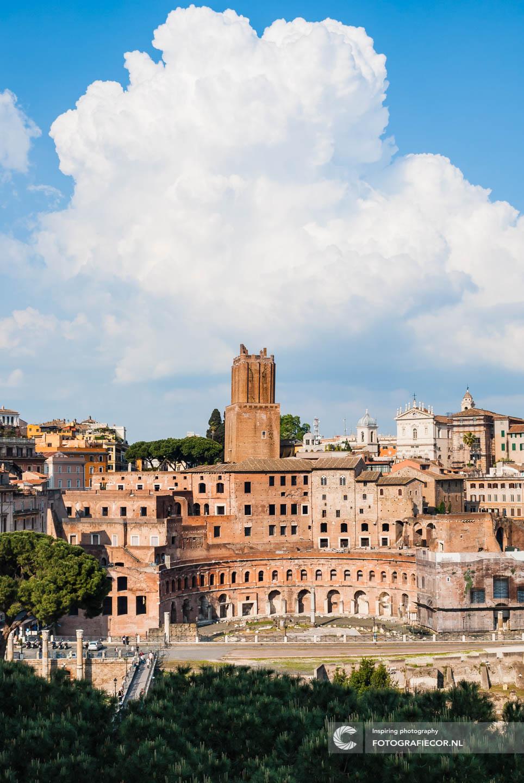Bezienswaardigheden | Rome | Torre delle Milizie op het Forum van Trajanus | Italie | Stedentrip |