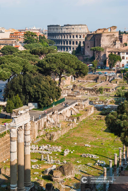 Bezienswaardigheden | ruïnes | Forum Romanum in de oudheid het centrum van Rome | Italie