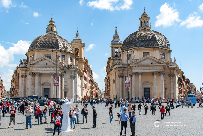 Santa Maria in Montesanto | Santa Maria dei Miracoli | Rome | Citytrip | piazza di Popolo | Via del Corso | Bezienswaardheden