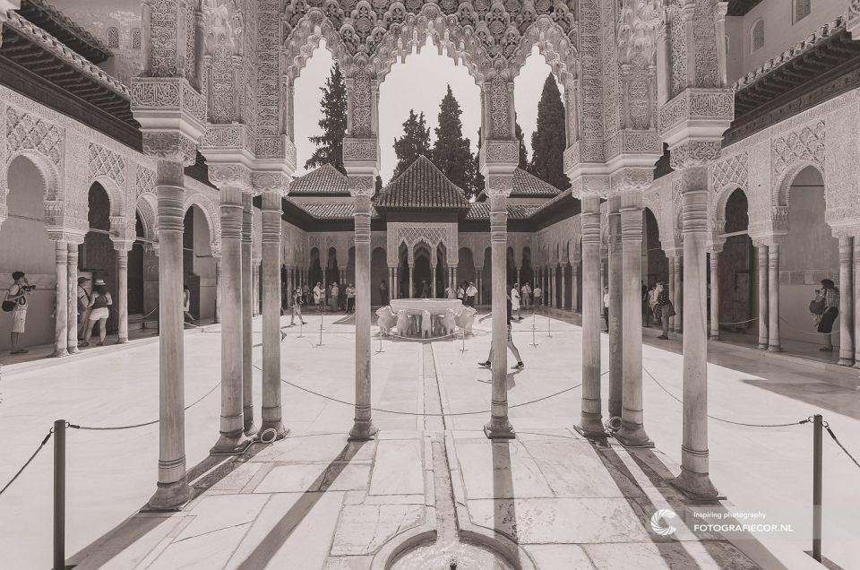 Portfolio | reizen | fotografie | Fontein | Leeuwen | granada alhambra | Palace of the Lions | Arabeaque | Andalusie | bezienswaardigheden | Generalife | Granada | Nasrid | Palace | Spanje | Zuid Spanje | Architectuur