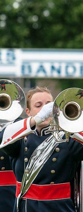Kamper Trompetter Korps | Kampen | show-optreden muziekfanfare