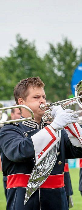 Kamper Trompetterkorps | Kampen | trombone sectie blaast muziek
