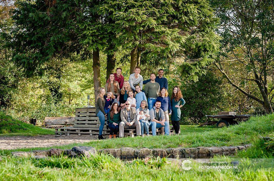Fotoshoot Familie in het prachtige stadspark van Kampen