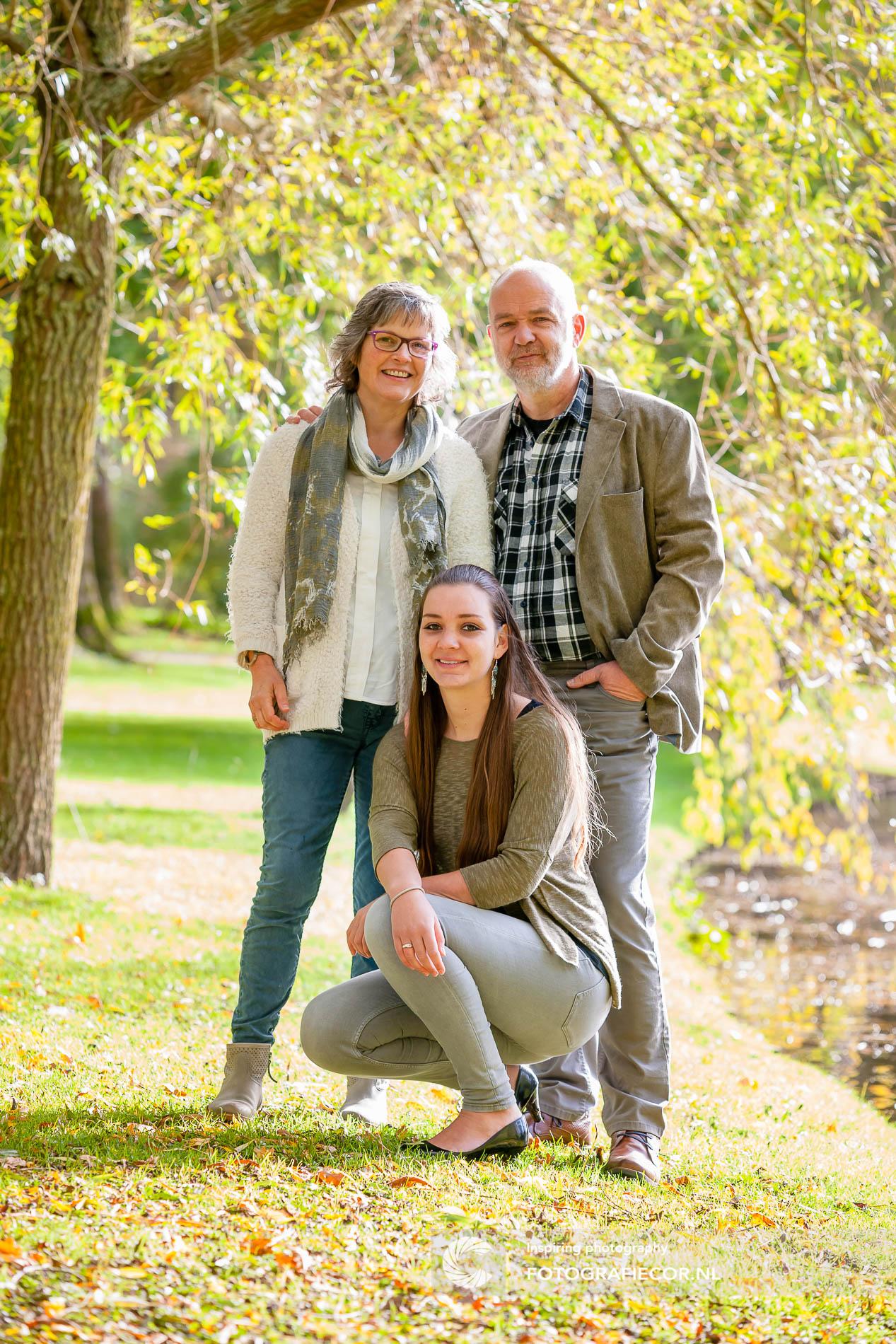 fotoshoot gezin | poort | stadspark Kampen | Herfst