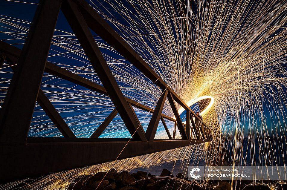 Lightpainting, Staalwol, fotografie, fotocursus, workshop, fotograaf, Kampen, Emmeloord, Dronten,