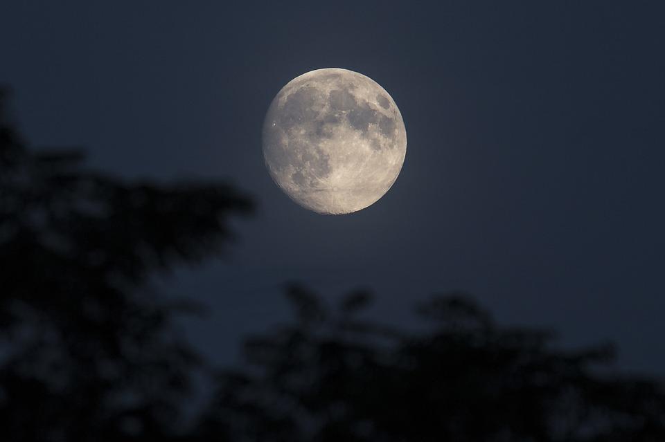 nachtfoto van de volle  maan