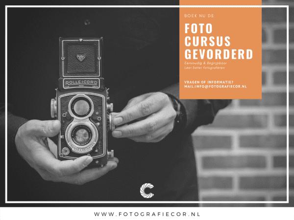Fotografie voor gevorderden| Cursus voor de gevorderde fotograaf