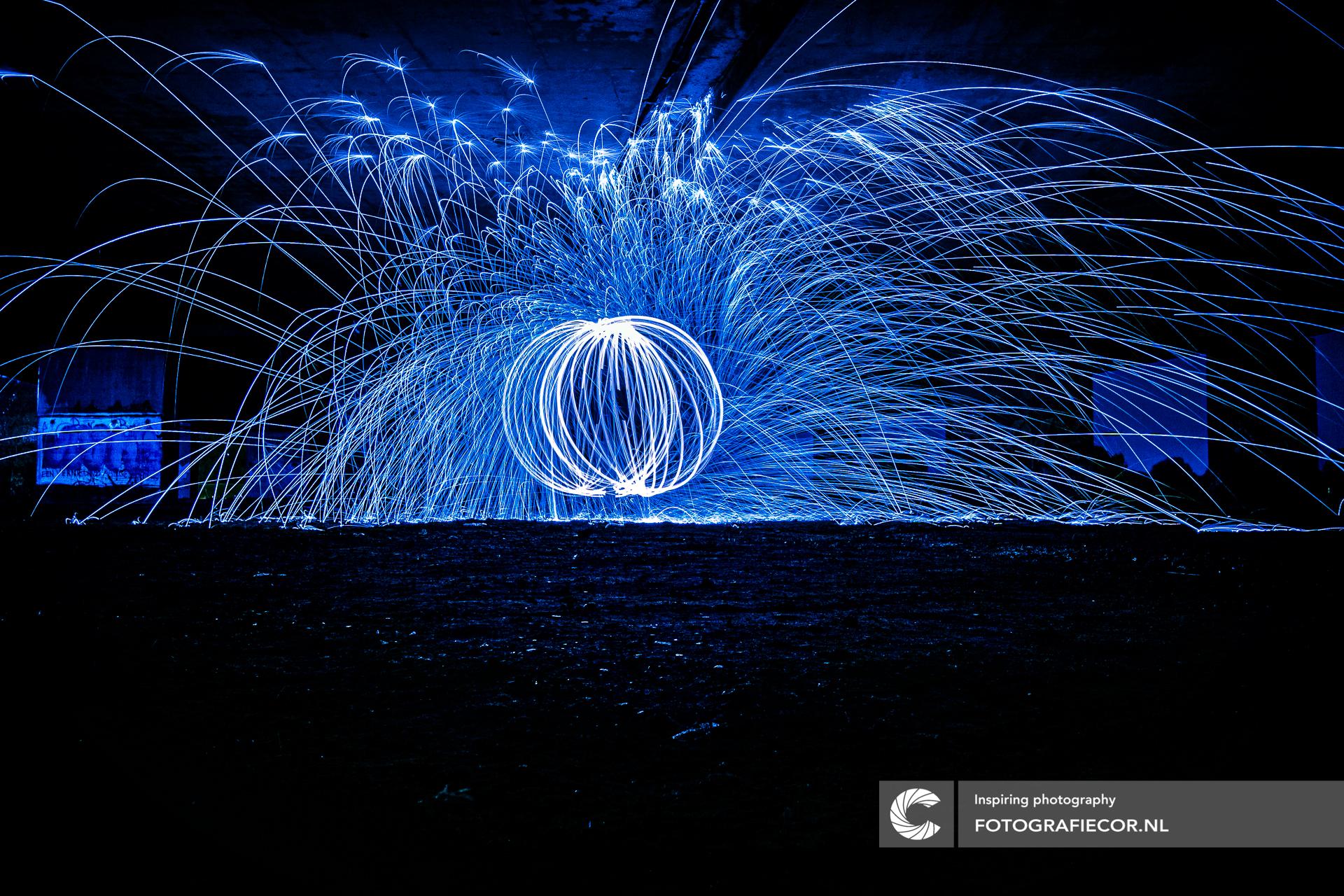 Lightpainting | luminografie | Staalwol | fotografie